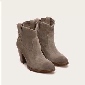 FRYE Ilana Short Boots - Dark Grey Suede
